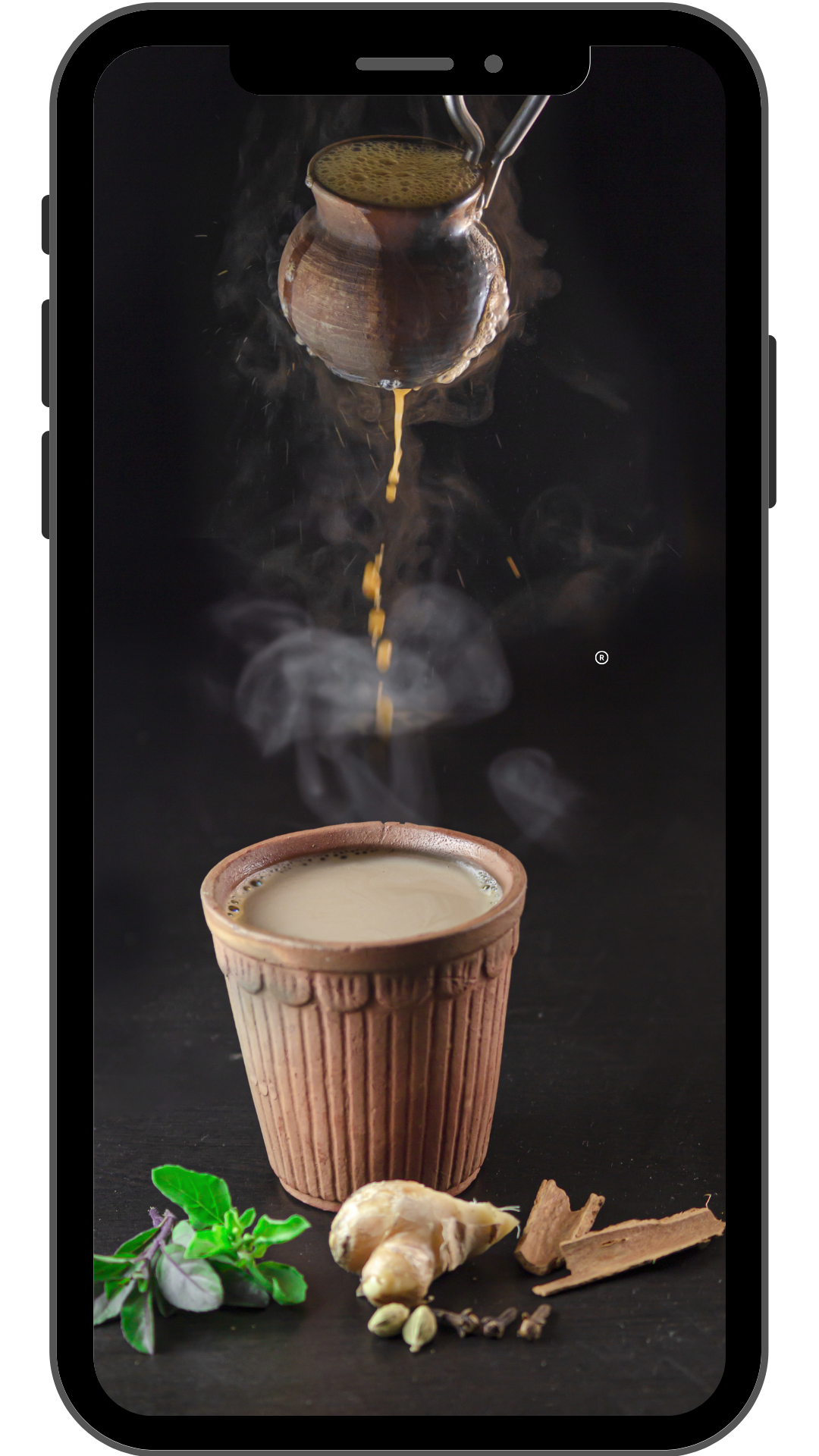 Abstract Iphone Mockup Instagram Story TEA CIRCLE